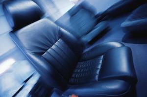 Black Leather Car Seat